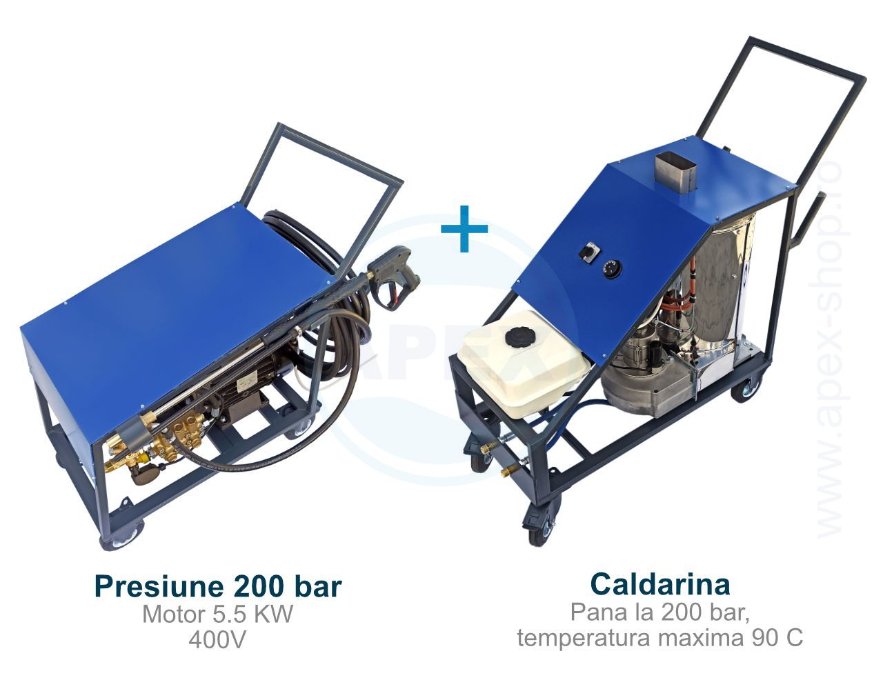 Grup caldarina UDOR 200 bar, 90C, pentru spalare cu apa calda