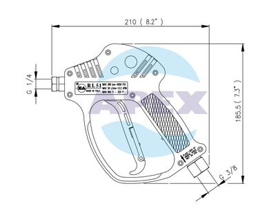 Pistol pentru aparat de spalat cu presiune - Spalare RL 51 si Lance Spalare Jet S3 800 blue
