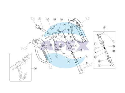 Pistol pentru aparat de spalat cu presiune - Spalare RL 51 Industria Alimentara