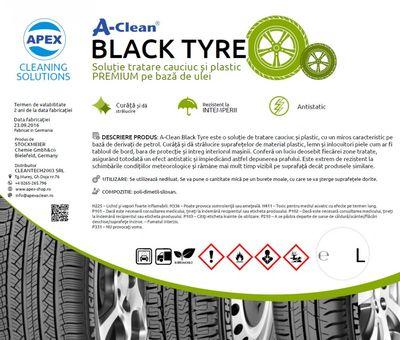 Solutie tratare cauciuc si plastic A-Clean Black Tyre