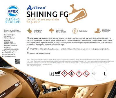 Lichid tratare suprafete de plastic A-Clean Shining FG
