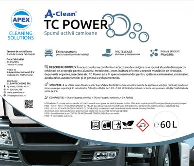 Spuma activa A-Clean TC POWER