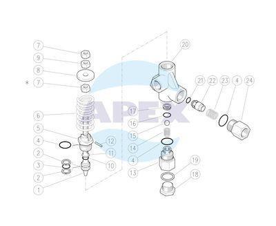 Regulator Presiune Bypass VB80/150, 1/2F Bsp