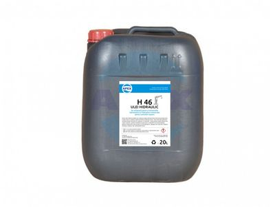 Ulei hidraulic H46 - Se utilizează pentru transmisiile  hidrostatice și hidraulice industriale  pentru solicitări ușoare