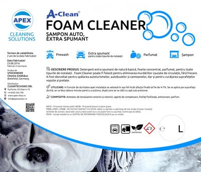 Detergent auto extra spumant A-Clean Foam Cleaner