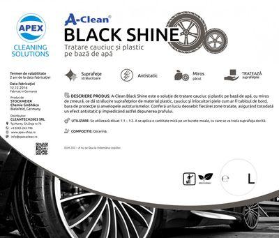 Solutie tratare cauciuc si plastic A-Clean Black Shine