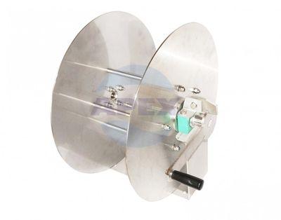 Tambur furtun inalta presiune manual inox Suttner ST-71 - Recomandat a fi utilizat cu furtun pentru apa, apa cu chimicale, aer, ulei