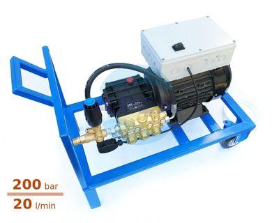 Aparat spalare cu presiune Udor MC 20/20 cu Total Stop si suport mobil