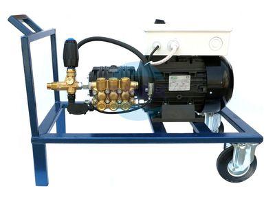 Grup Pompare spalatorie auto manuala Udor BC 15/20 cu Total Stop si suport mobil 200bar, 15L/min