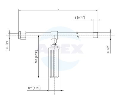 Lance Spalare RL100-124 - 800mm