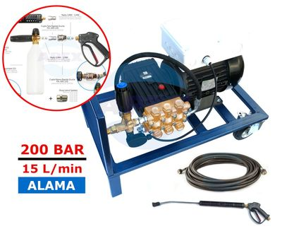 KIT Complet spalare - spumare Interpump WS151 (200bar, 15L/min) - Furtun spalare 10m, kit lance spalare - spumare
