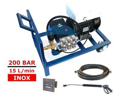 Grup pompare completa pentru uz industrial Interpump WS201 cu Total Stop si contor