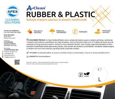 Solutie tratare cauciuc si plastic A-Clean Rubber and Plastic