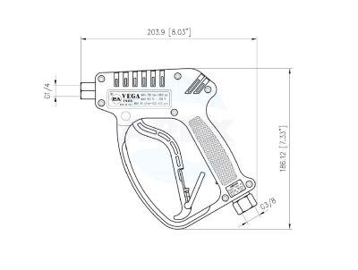 Pistol Jet P.A. VEGA Inox