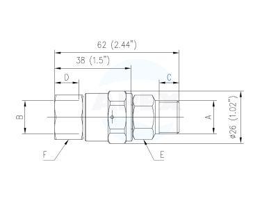 Pivotant frontal brat rotativ spalare PA SW25