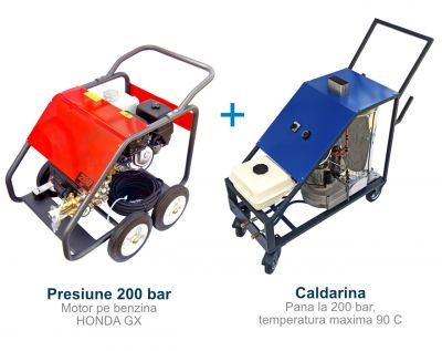 Grup caldarina autonoma 200 bar, 90C, pentru spalare cu apa calda